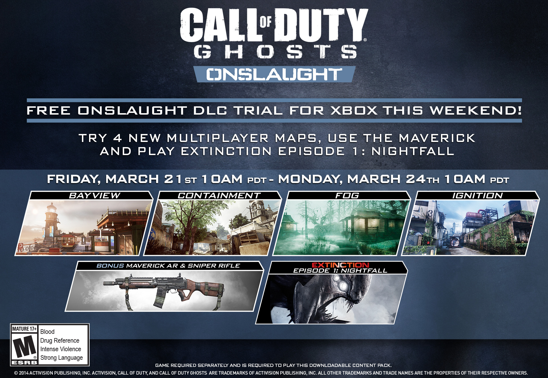 Call of Duty®: Ghosts Free Onslaught DLC Trial Com... - Activision Call Of Duty Ghosts Maps Packs on